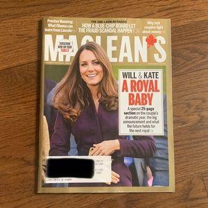Maclean's Magazine - December 2012 - Royal Baby